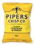 PIPERS LYE CROSS CHEDDAR & ONION CRISPS            -24x40g