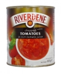 RIVERDENE CHOPPED TOMATOES MEDIUM TINS      -6x800g