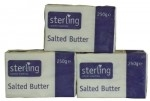 STERLING SALTED BUTTER ( BLOCKS ) PACKETS          -40x250g