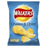 WALKERS CHEESE & ONION CRISPS          -32x32.5g