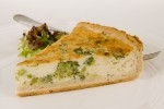 "STERLING BROCCOLI & STILTON 10"" QUICHE BAKED     -6x12PTN"