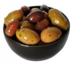 GREEK PITTED OLIVE MIX DRAINED WEIGHT-3K