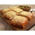 "CHEESE & TOMATO PIZZA SLAB (lower fat) 15x9""     -6s"