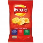 WALKERS ASSORTED CRISPS VARIETY 6s  (18x6)  -108s