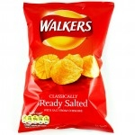 WALKERS FAMILY READY SALTED CRISPS LARGE BAGS    -6x175g